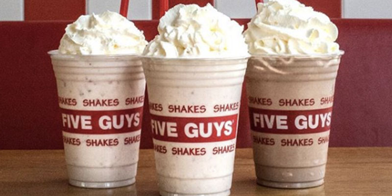 Five Guys – closed until further notice